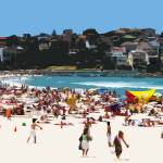 """A Day at the Beach XIII, South Bondi Beach"" by tomhawkins"