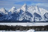 Snow On The Tetons