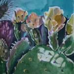 """Cactus in Bloom I"" by artbyaleksandra"