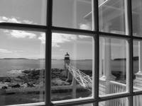 Through the window, Marshal Point Lighthouse