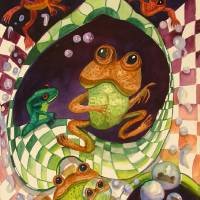 Tell Me A Story of Fake Frogs by Sonya P. Art Prints & Posters by Shari P.