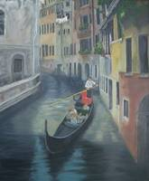 2Gondola in Italy-Oil 24X20 $785 K.Vona-MacDonald