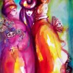 """THE THIRD MASK / VENETIAN MASQUERADE CHARACTERS"" by BulganLumini"