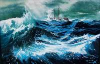 SHIP IN THE SEA IN STORM