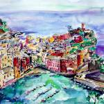 """""""Vernazza Italy Cinque Terre Painting by Ginette"""" by GinetteCallaway"""