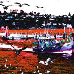 """""""Sausalito with Persimmon Sea"""" by sol"""