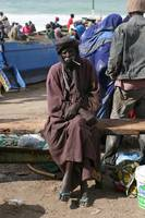 Mauritanian Man at Fish Market