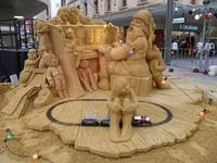 Rundall Mall christmas carving.