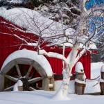 """Snow Covered Wheelmill"" by crazysuncompany"