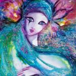 """VENETIAN MASQUERADE CHARACTERS /MASK IN BLUE"" by BulganLumini"