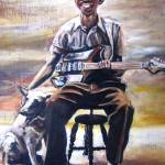 """Bluesman with Dog"" by philgoodrich"