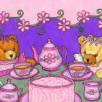 """Teddy Bear Tea Party"" by PaulasPastels"