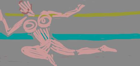 Pink on Turquoise Yellow on Grey 2 (2008)