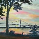 """AMBASSADOR BRIDGE AT SUNSET"" by RuthDriedger"