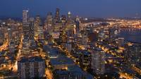 Downtown Seattle at Night from the Space Needle