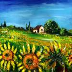 """Sunflowers in Countryside of Tuscany"" by BulganLumini"