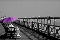 Woman with the Purple Umbrella
