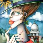 """Woman and the Capitol"" by ToniPawlowsky"