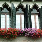 """Three Ornate Stained Glass Windows"" by DonnaCorless"
