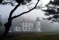 Lighthouse in the Fog