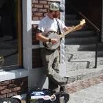 """Street Performer, Asheville, NC #02, dry brush"" by seacat"