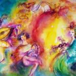 """BURNING THE CARNIVAL / Venetian Carnival Dance"" by BulganLumini"