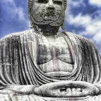 The Great Buddha (Daibutsu) - Kamakura, Japan Art Prints & Posters by threestripes