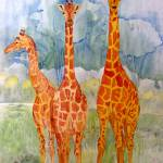 """giraffe trio"" by dradack"