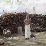 """Wood Cutter, Allahabad India"" by johnhansen_art"