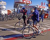 San Francisco Bikers on Fisherman's Wharf
