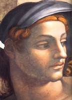Michelangelo's Youth Detail Above Persian Sibylle