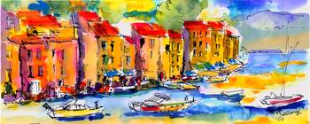 Portofino Italy Original Painting by Ginette