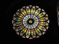 Rose window in the Strasbourg Cathedral