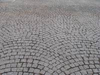 Cobblestone walkway in Place de la Cathédrale, Str