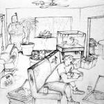 """Messy Room Self Portrait"" by TobinSprings"