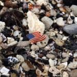 """""""Beach with Flag"""" by LHoov"""