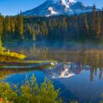 """Rainier and Reflection Lakes"" by ravenfalls"