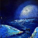 """""""Padre Island Moon"""" by monalisyartist"""