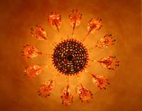 Chandelier at Lake Pichola Hotel