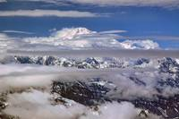 Denali Through the Clouds
