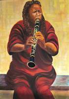 Cuban Clarinet jazz player