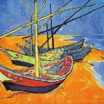 """Fishing Boats on the Beach 2"" by ArtLoversOnline"