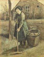 Peasant Girl Raking