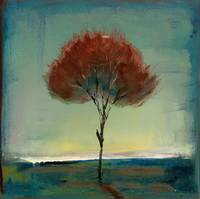 Singular Beauty: Glow Tree Landscape Fine Art