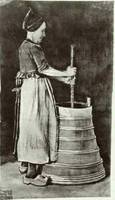 Woman Churning Butter