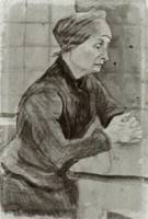 Woman with Folded Hands Half-Length