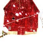 """Red Snowy Barn"" by Shesgottheeye"