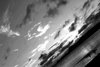 beach sky black & white