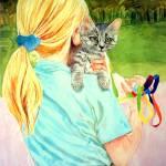 """""""Walking  kitty"""" by Imani"""