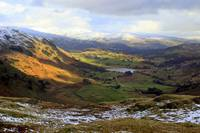 Little Langdale Tarn from Wrynose Pass